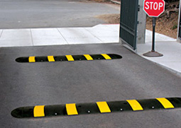speed bumps in parking lot