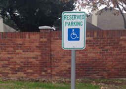 parking lot sign installation