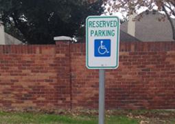 parking lot sign installation
