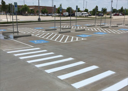 traffic controlled parking lot