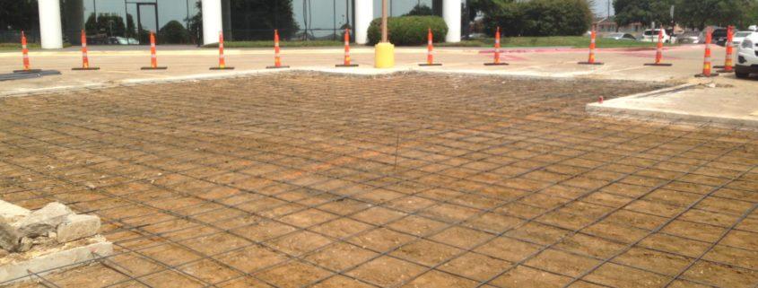 replacing parking lot paving