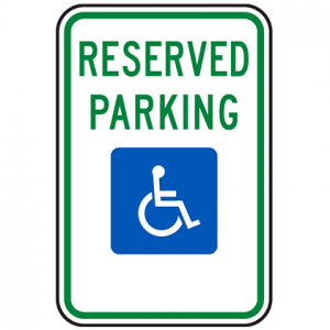 Reserved Parking lot signs for sale