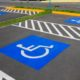 ADA compliant parking lot