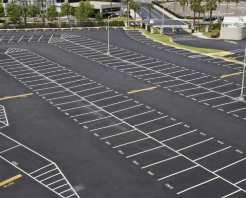 Commercial Parking Lot Striping